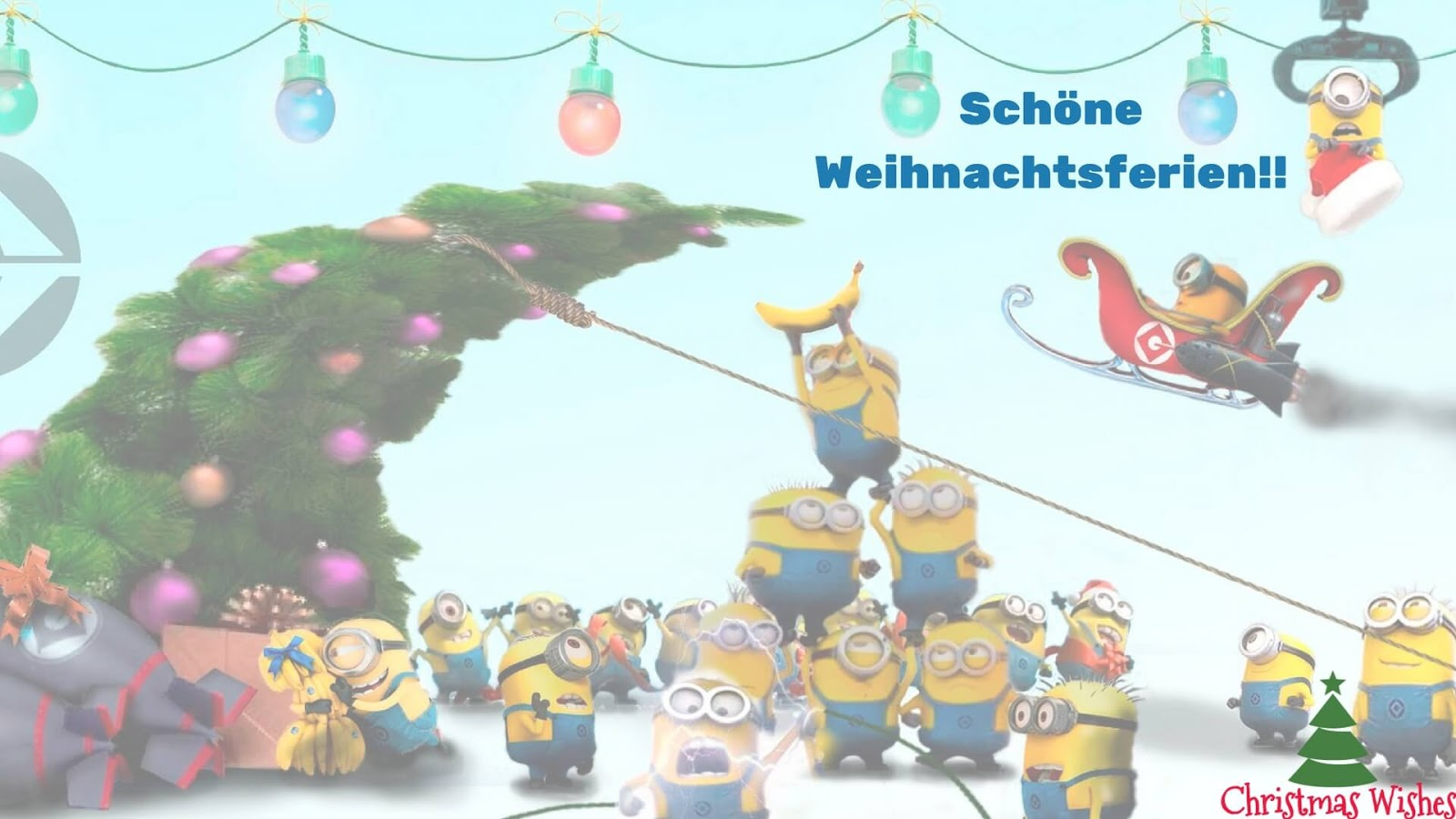 fantastisch lustige minions bilder frohe weihnachten. Black Bedroom Furniture Sets. Home Design Ideas