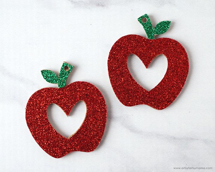 DIY Teacher Apple Earrings with 12 Free Earring Cut Files