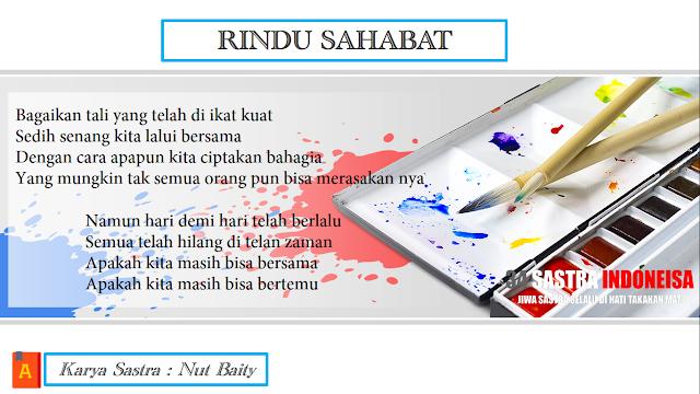 Puisi Untuk Sahabat (Rindu Sahabat) | 34 Sastra Indoneisa