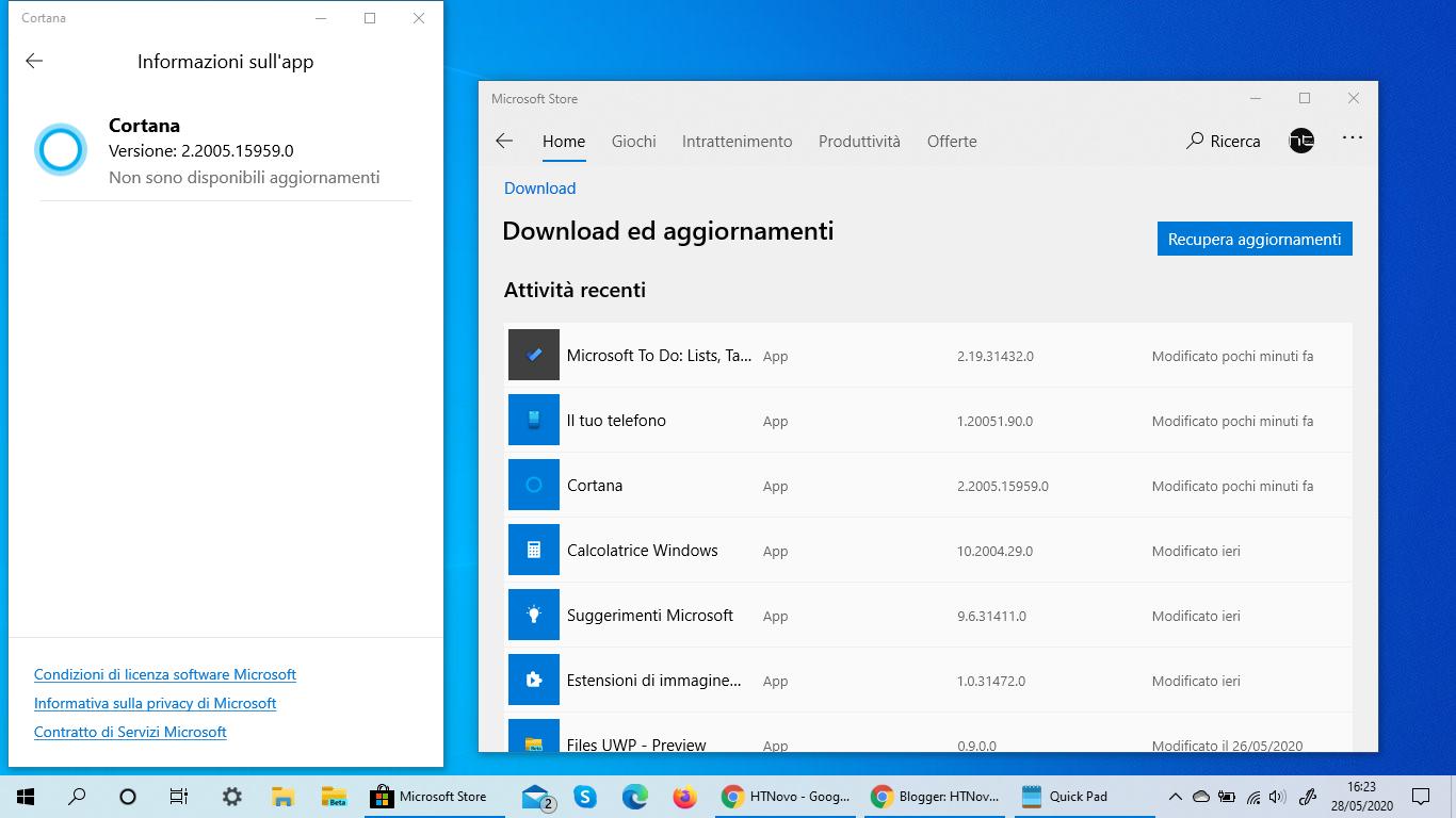 [Non più Beta] Cortana si aggiorna in Windows 10 Versione 2004
