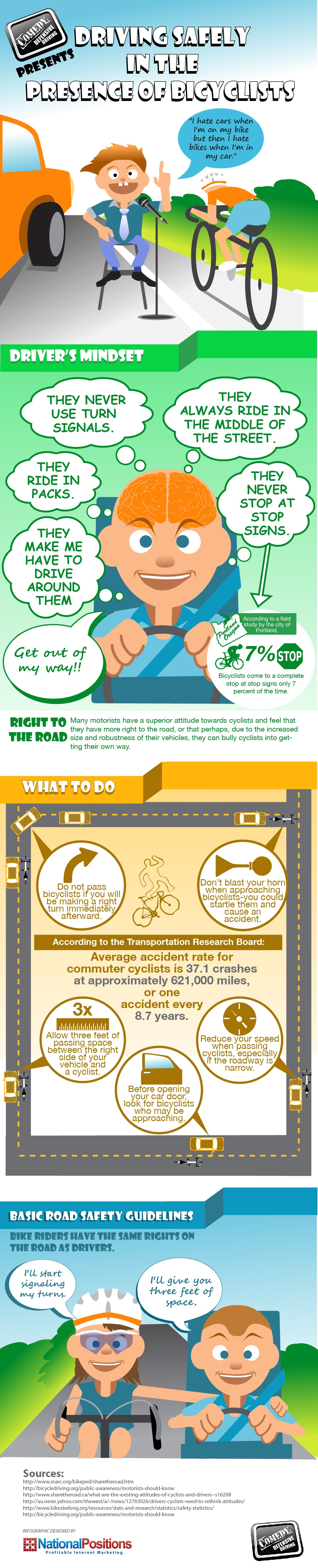 Driving Safely In The Presence Of Bicyclists  #Infographic