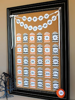 DIY Halloween Countdown Calendar With Printable Numbers | ReviewThisReviews.com | DIY Network