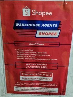 Lowongan Kerja Warehouse Agents Shopee Untuk Lulusan Smk Sma Random Email Loker