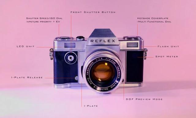 Fotografia della fotocamera analogica modulare Reflex