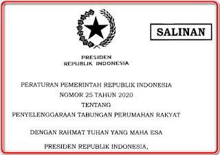 PP Tapera Nomor 25 tahun 2020