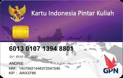 Contoh Kartu Indonesia Pintar Kuliah