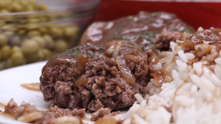 HAMBURGER STEAK WITH ONION GRAVY RECIPE