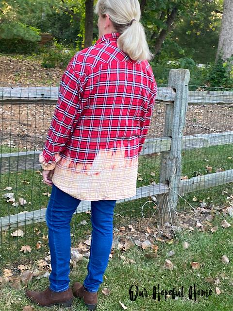 farmhouse rustic flannel split rail fence jeans boots