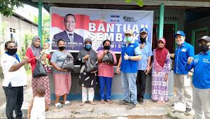 Hari Kedua, BKH dan DPC Alor Bagi 250 Paket Sembako di Alor