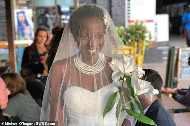 Uganda lady who was sick of being asked when she was getting married ties the knot with herself in front of 30 guests