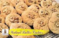 viaindiankitchen - Walnut Butter Cookies