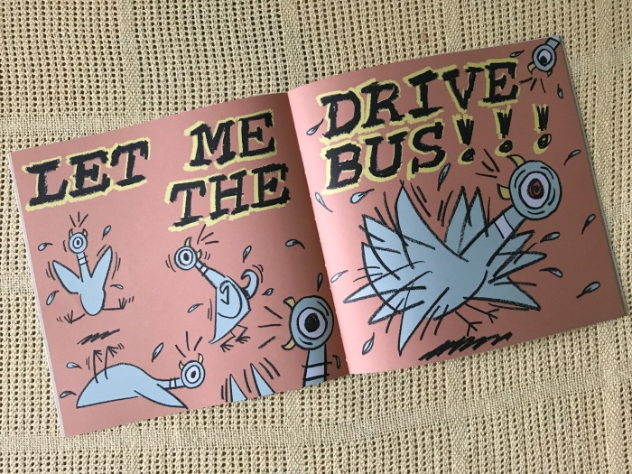 a page from don't let the pigeon drive the bus