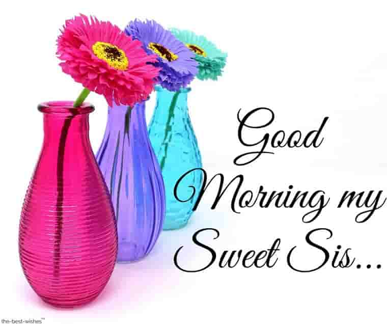 good morning my sweet sister wallpaper