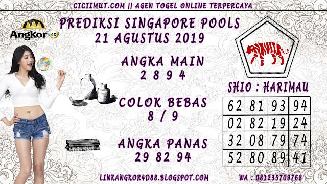 PREDIKSI SINGAPORE POOLS 21 AGUSTUS 2019