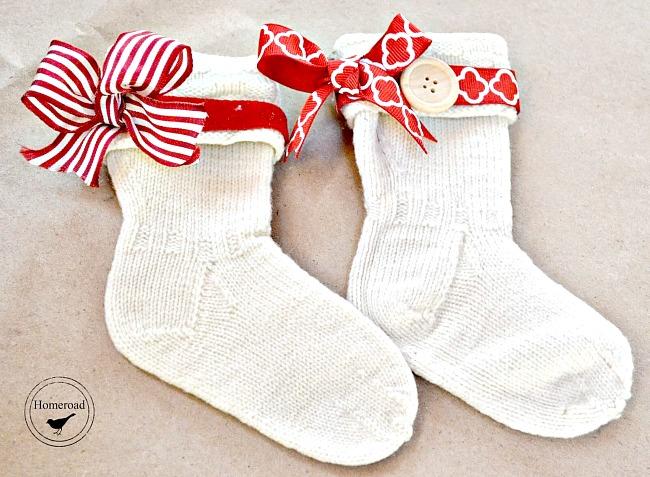 DIY Christmas Stockings from Vintage Wool Baby Socks