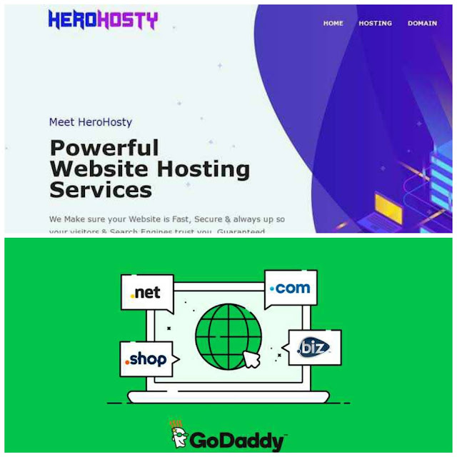Herohosty Vs GoDaddy Which Is Batter, Best Domain Name, Herohosty