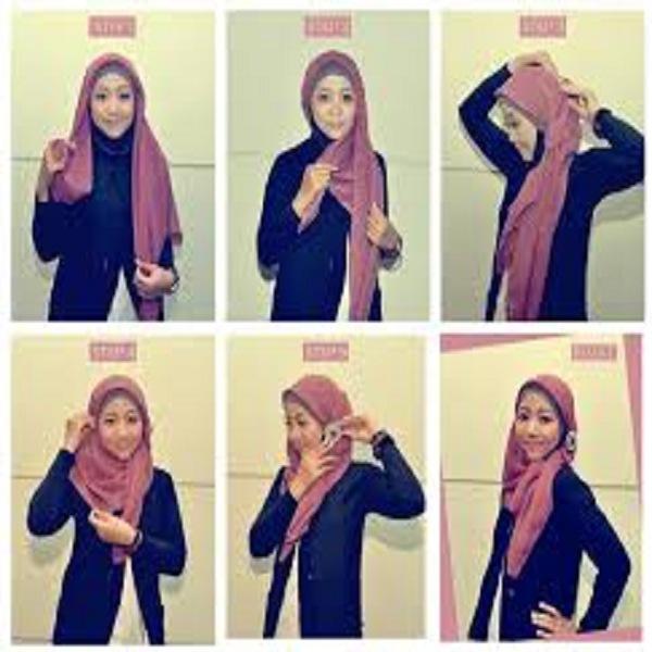 Model jilbab pesta terbaru segi empat pashmina pernikahan simpel menutup dada dan syari