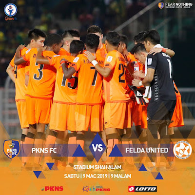 Live Streaming PKNS vs Felda United Liga Super 9.3.2019