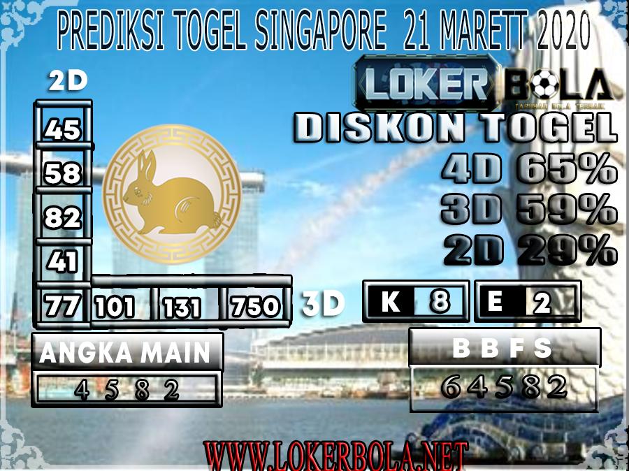 PREDIKSI TOGEL SINGAPORE LOKER BOLA 21 MARET 2020
