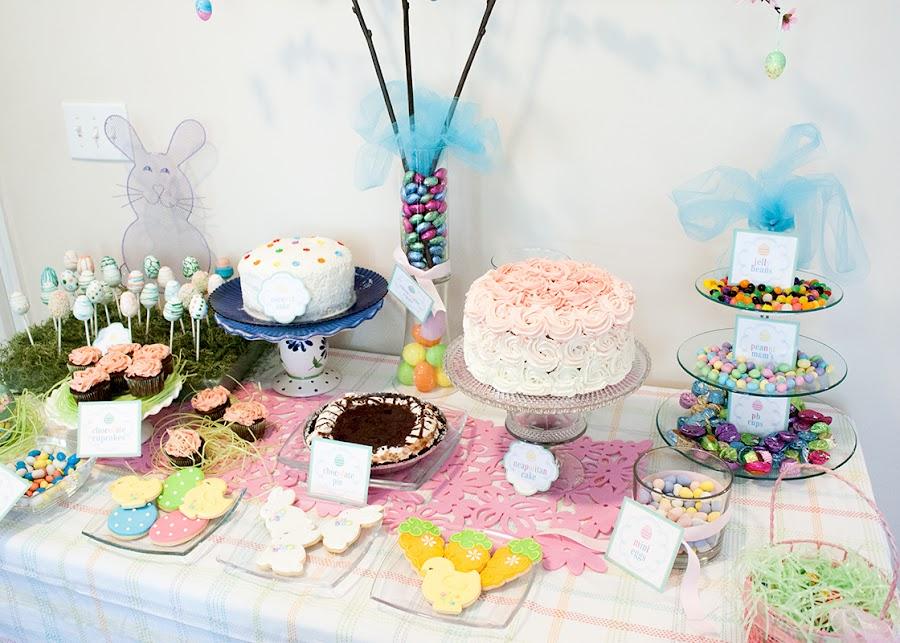Mesa dulce de pascua