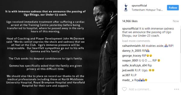 Tottenham Hotspur's Under-23 Coach Ugo Ehiogu is Dead