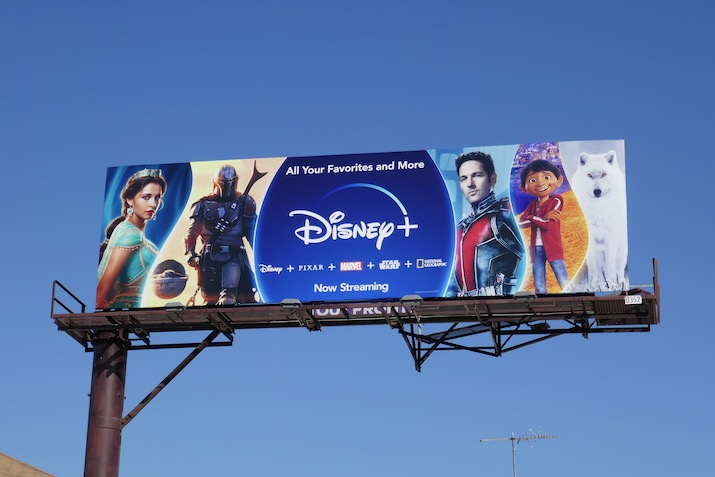 Disney+ spring 2020 billboard