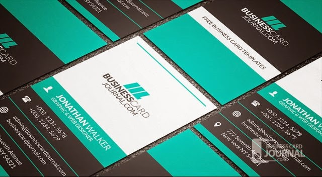 Bold & Contrasting Vertical Business Card Template