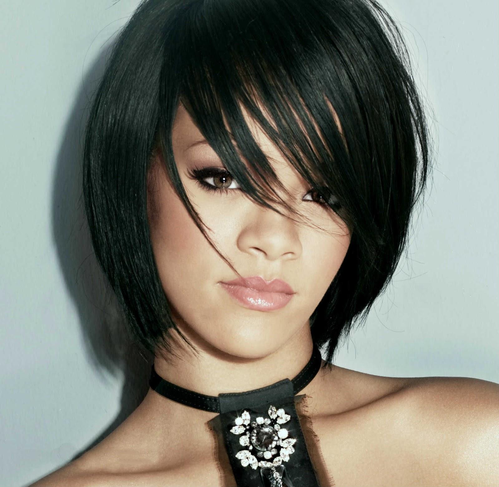 Hairstyles Wallpaper: Rihanna Short Hair Style 2015 -o-