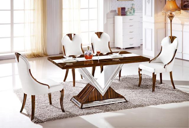 Kích thước chuẩn của bàn ăn hình chữ nhật: