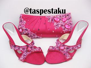 Set Matching Tas Pesta Pink Fanta Unik dan Elegant Handmade