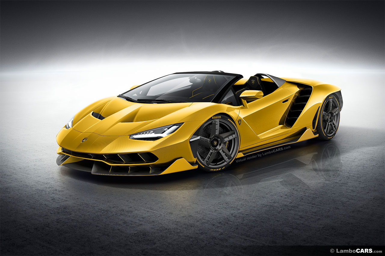 Lamborghini Centenario Roadster LP770-4 Renderings Look