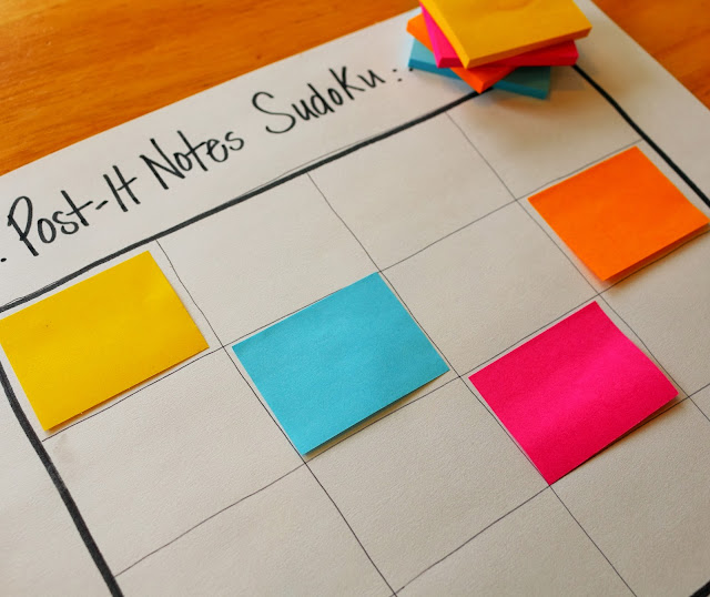 post it notes sudoku logic game