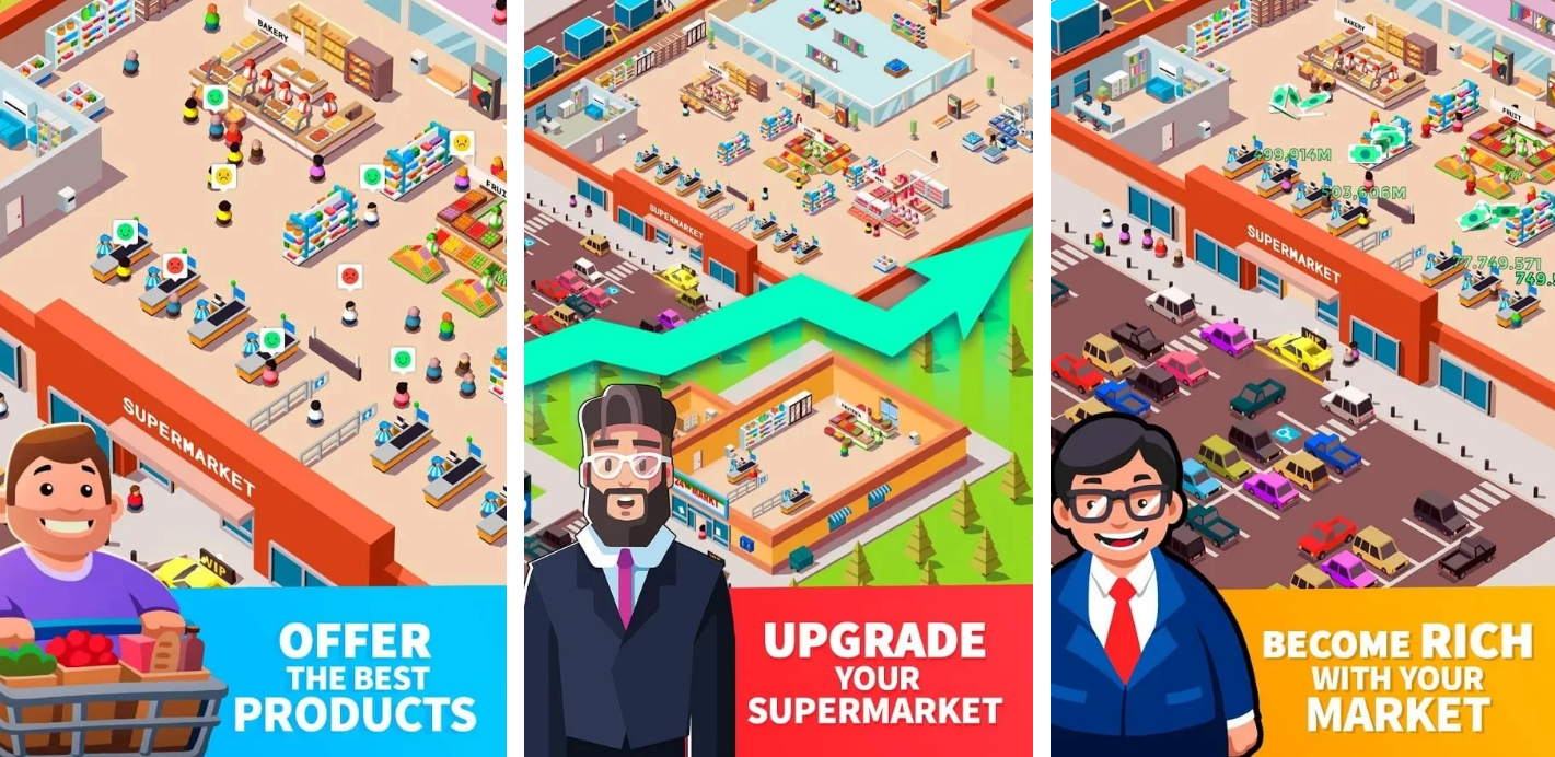 ملخص حول الخمول سوبر ماركت تايكون Idle Supermarket Tycoon - Tiny Shop Game