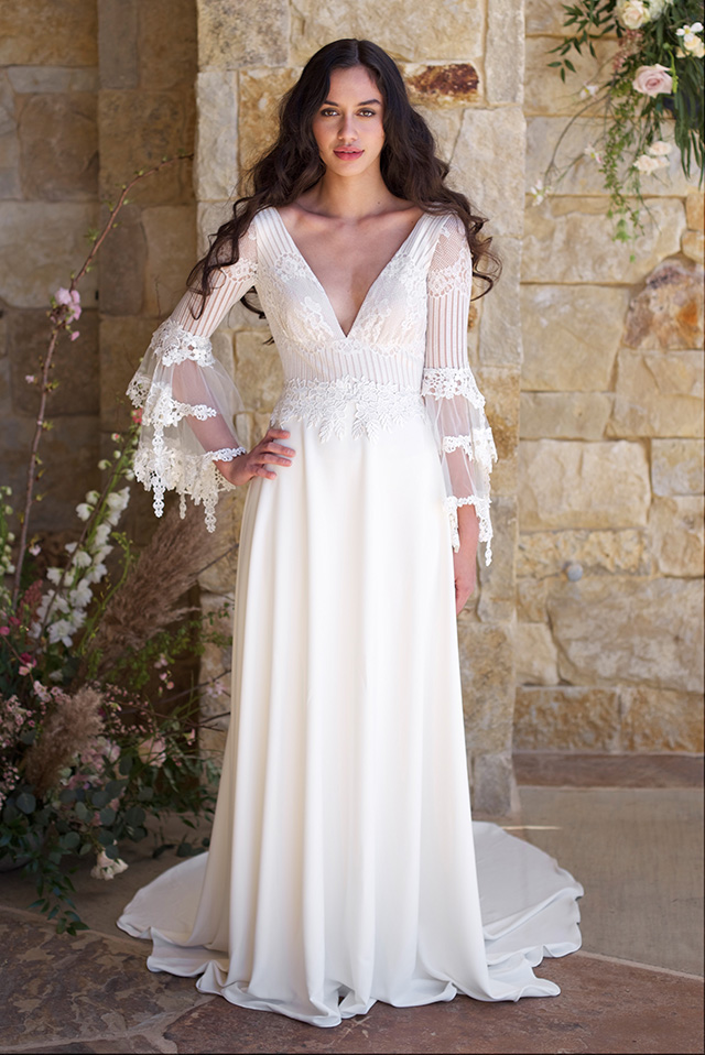 The white gallery favourite alternative wedding dresses devine bride next up claire petitbone dresses are always effortless and ethereal with a retro twist these wedding gowns are perfect for a bohemian love story perfect junglespirit Choice Image