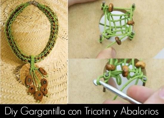 Como hacer un Collar con Tricotin y Abalorios