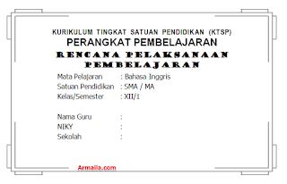 Download RPP KTSP Bahasa Inggris Kelas XII SMA
