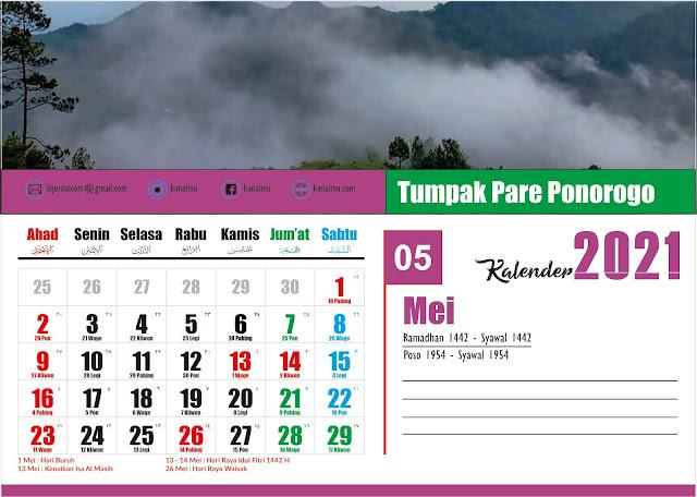 Kalender 2021 Bulan Mei