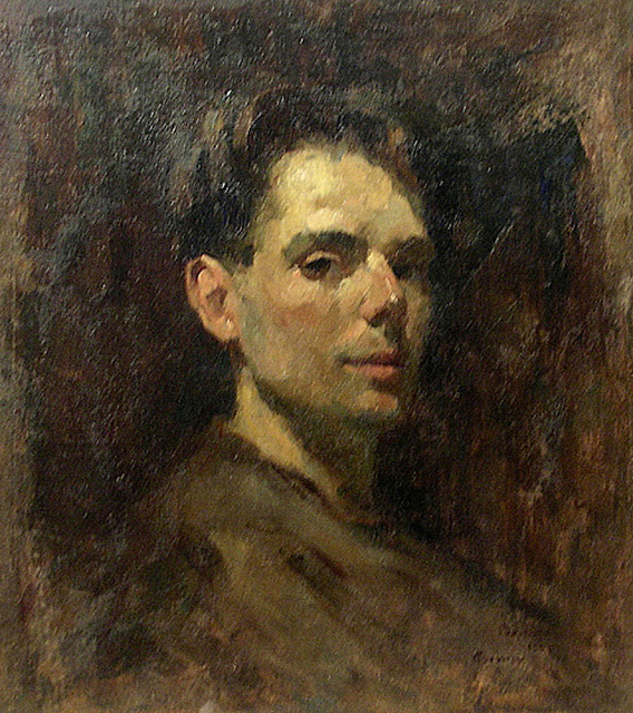 Aurel Baesu, Self Portrait, Portraits of Painters, Fine arts, Portraits of painters blog, Paintings of Aurel Baesu, Painter Aurel Baesu