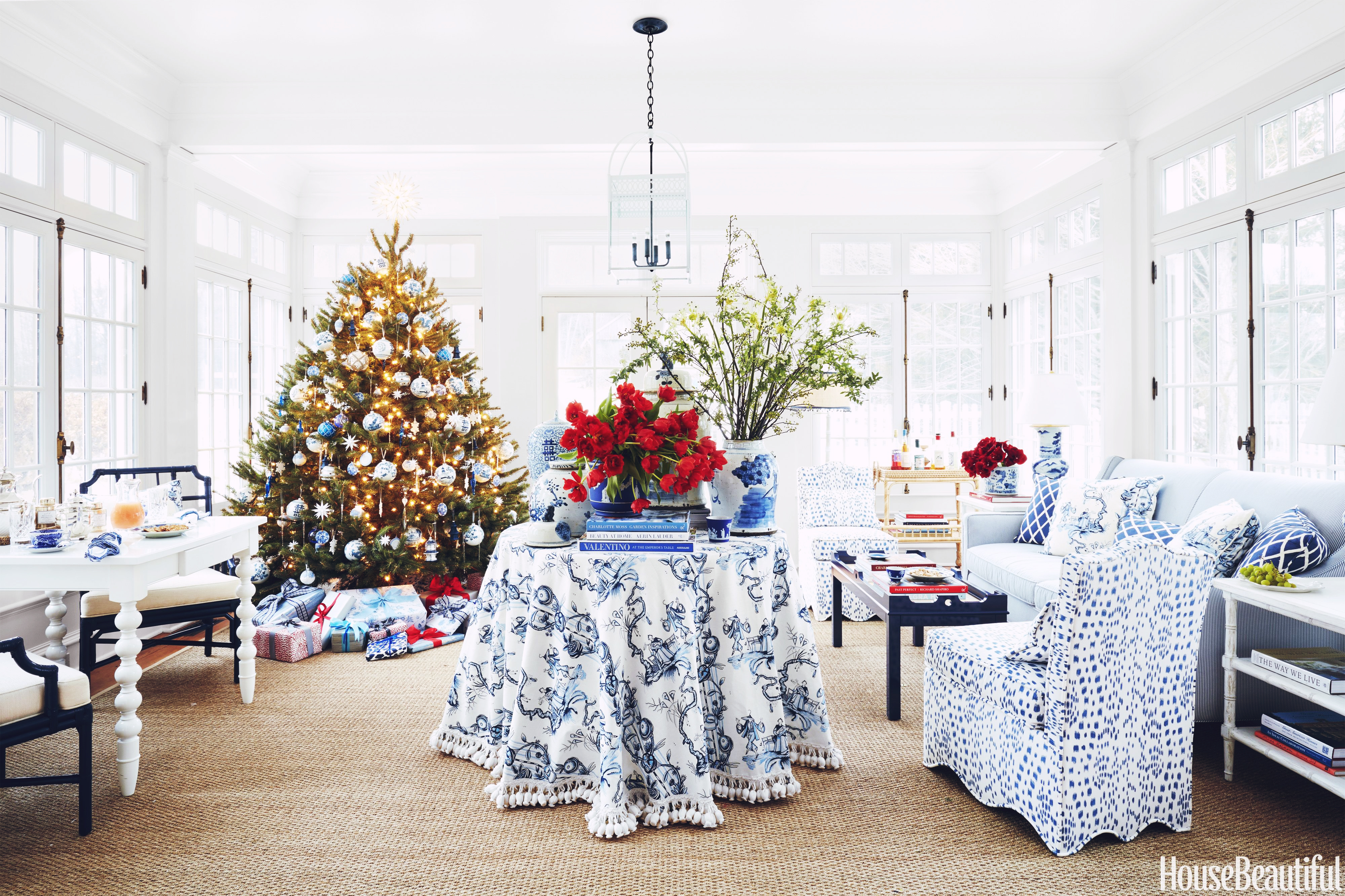 Holiday Inspiration: A Very Southern Christmas in a Connecticut Home Designed by Jenny Wolf Interiors