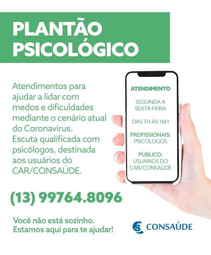 CAR/CONSAÚDE inicia plantão psicológico por telefone