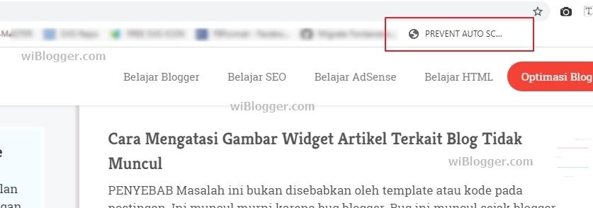 Mengatasi Scroll ke Atas di eDIT HTML Blog