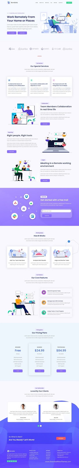 Remote Work Software Agency Template