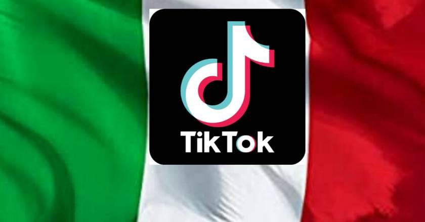 Italy flag TikTok