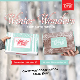 Winter Wonders Paper Pumpkin Christmas kits - October and November - Christmas cards and tags