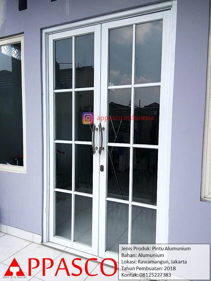 Pintu Kaca Aluminium Minimalis di Rawamangun