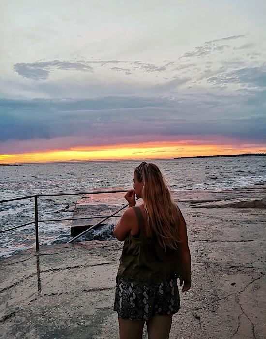 sehenswerter Sonnenuntergang Kroatien