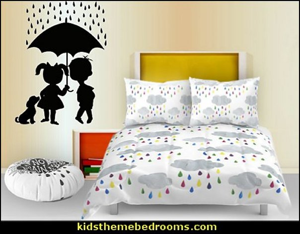 raindrops bedding raindrops wall decals weather bedroom decorating ideas deas for rain themed bedrooms