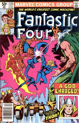 Fantastic Four #225, giant space Vikings vs Thor