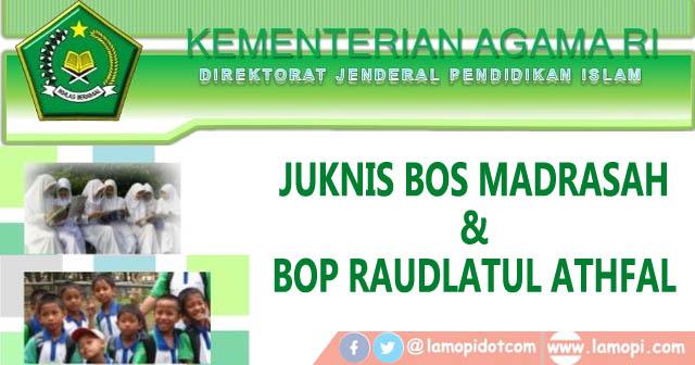 Juknis BOS Madrasah dan BOP RA 2021 Kemenag