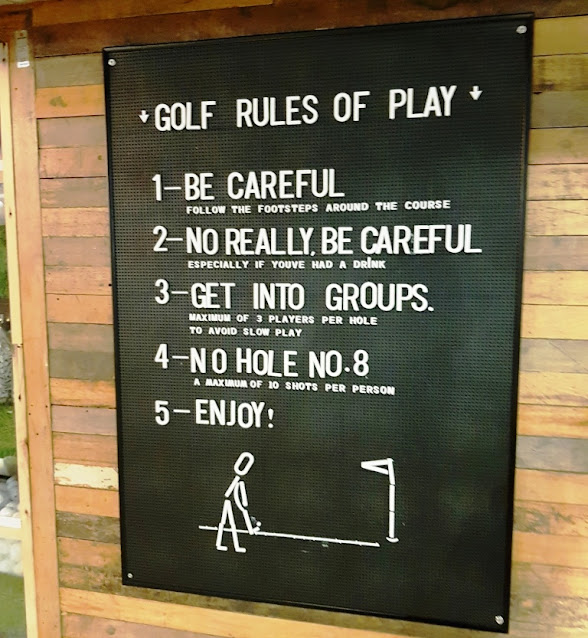 The rules of indoor minigolf at Lane7 (2018)